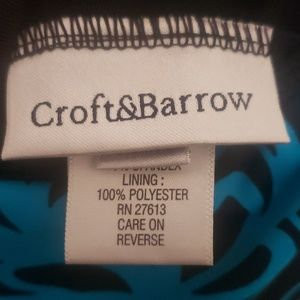 croft & barrow Swim - Blue and black swim dress